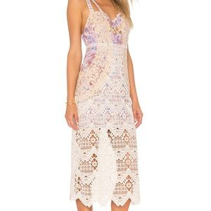 Free People Midi Ivory Dress